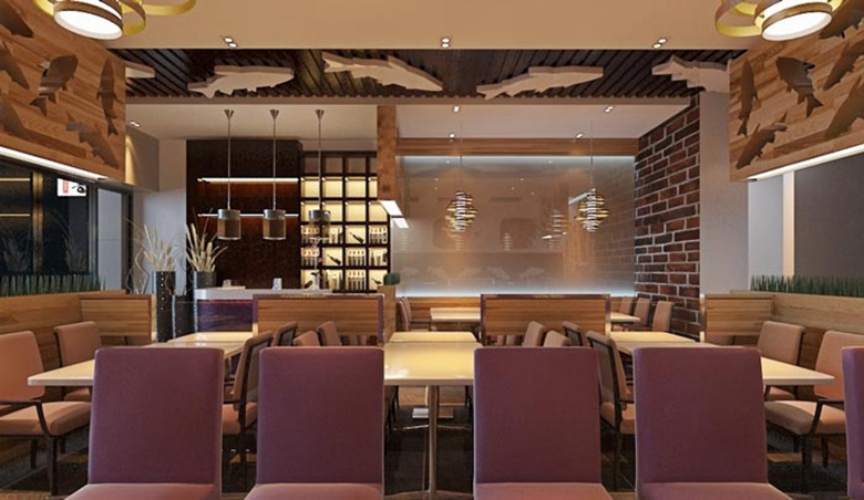 现代风格烤鱼餐厅装修案例_中式装修案例_装修案例